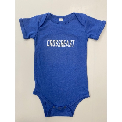 Baby romper Heather Columbia Blue