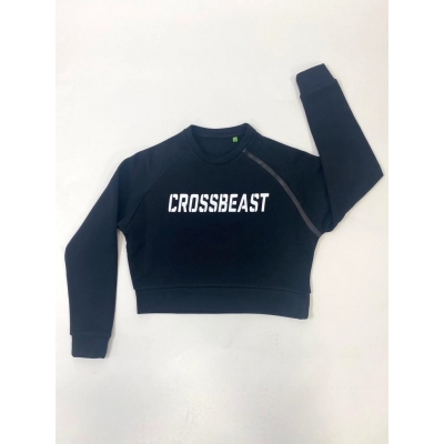 Women's Cropped Sweatshirt black/white