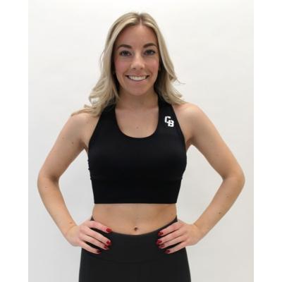 Women's medium support seamless black bra