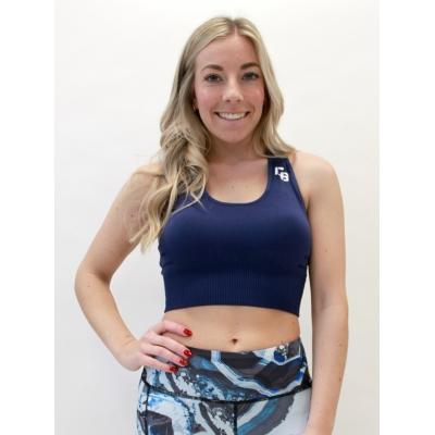 Women's medium support seamless blue bra