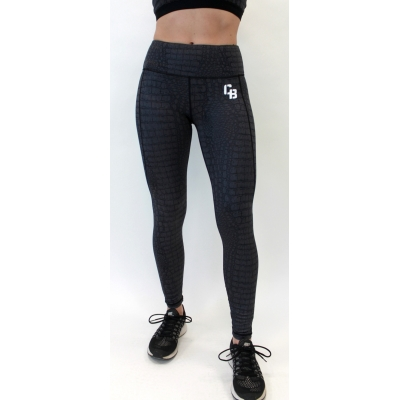 Women's performance crocodile print legging
