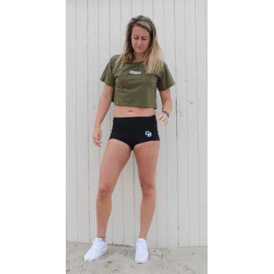 Women's crop top olive