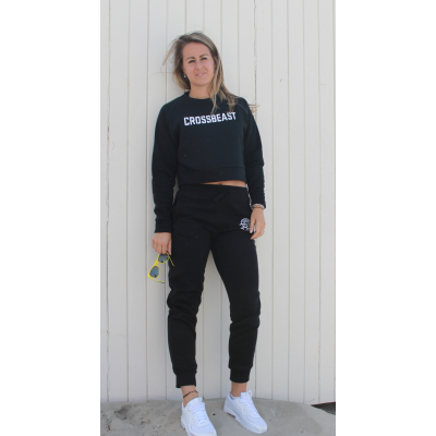 Women's Cropped Sweatshirt black/white