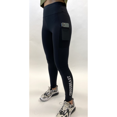 Women's performance legging Black with phone pocket