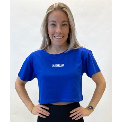 Women's crop top Royal