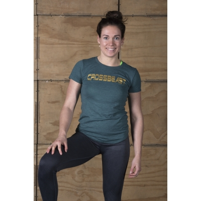 Women's T-Shirt Heather Dark Green