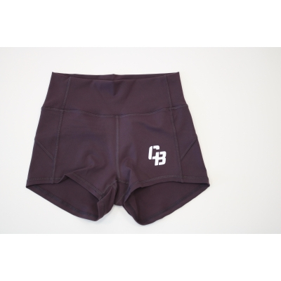 Booty Short High Waist Aubergine