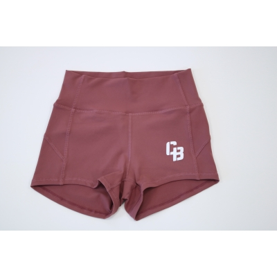 Booty Short High Waist Merlot Red